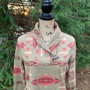 Chaps denim Aztec south western shirt size large